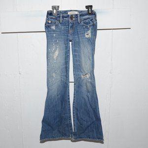 Abercrombie flare girls jeans size 10 slim